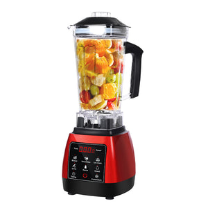 2L Commercial Blender Mixer Food Processor Kitchen Juicer Smoothie Ice Crush Red