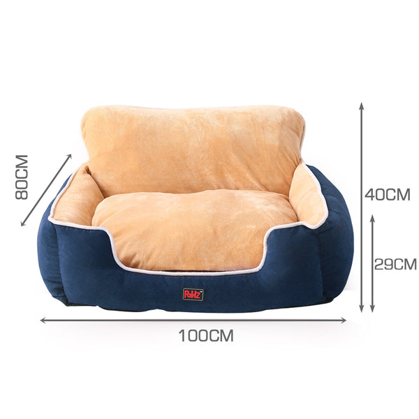 PaWz Pet Bed Dog Mattress Bedding Calming Beds Soft Cushion Puppy Pillow Blue