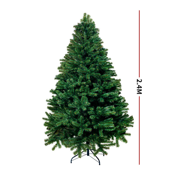 Christmas Tree Kit Xmas Decorations Colorful Plastic Ball Baubles with LED Light 2.4M Type1