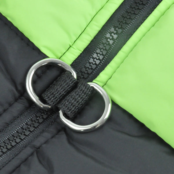 PaWz PaWz Dog Winter Jacket Padded  Pet Clothes Windbreaker Vest Coat  XL Green