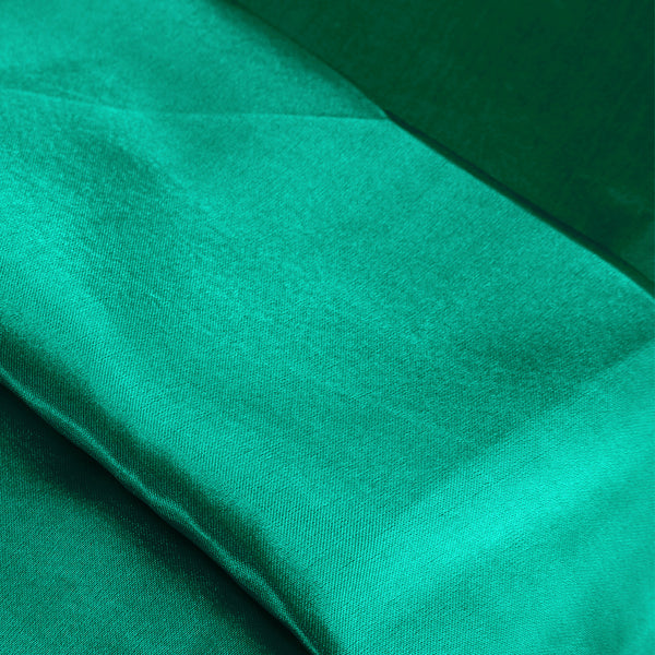 DreamZ Ultra Soft Silky Satin Bed Sheet Set in Queen Size in Teal Colour