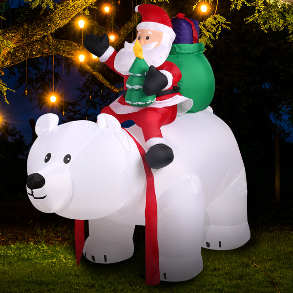 Inflatable Christmas Santa Snowman with LED Light Xmas Decoration Outdoor Type 9