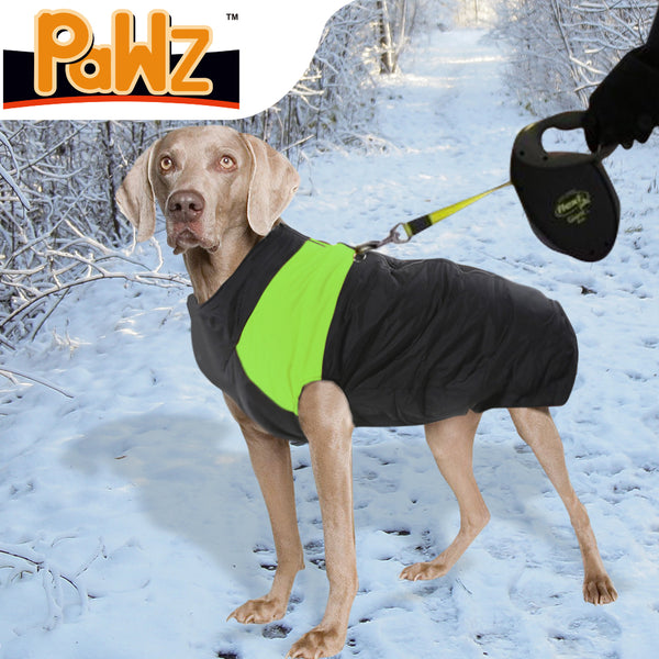 PaWz PaWz Dog Winter Jacket Padded  Pet Clothes Windbreaker Vest Coat 5XL Green