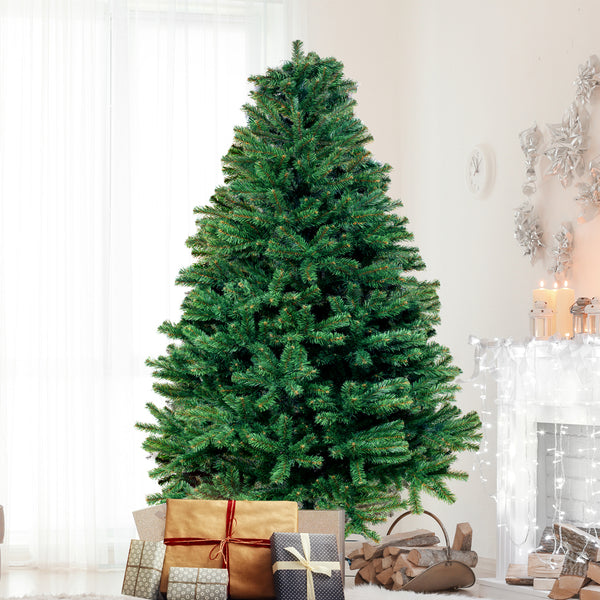 Christmas Tree Kit Xmas Decorations Colorful Plastic Ball Baubles with LED Light 1.8M Type1
