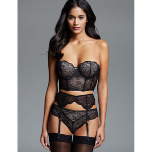 Floral Lace 3 Piece Bra & Suspender Set Women's Lingerie
