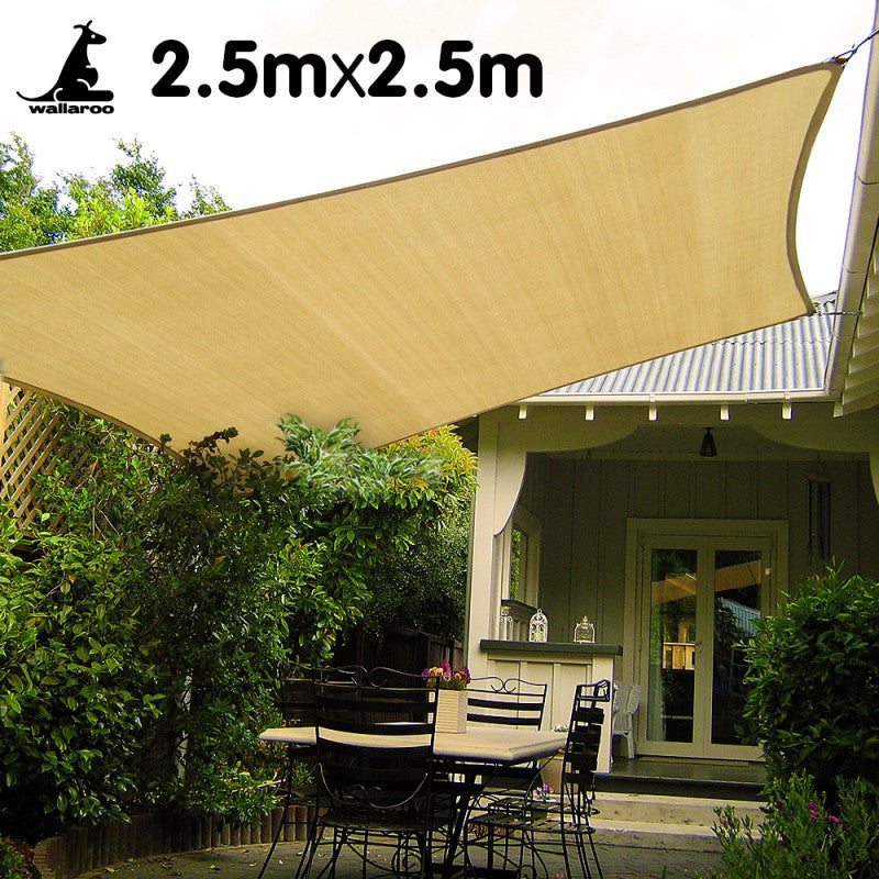 Wallaroo Square Shade Sail 2.5 x 2.5m - Sand