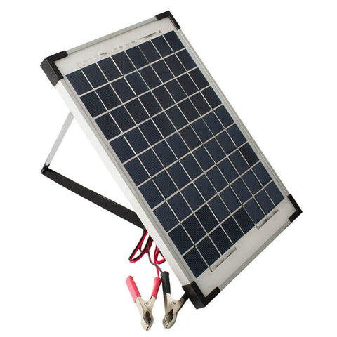 12V 10W Solar Panel Kit MONO Caravan Regulator RV Camping Power Charging
