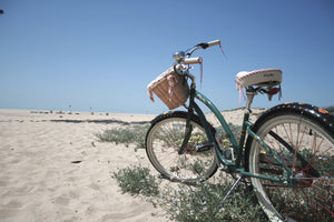 Beach bicycle on the sand photo