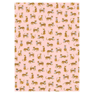 Off Duty Tigers Gift Wrap sheet