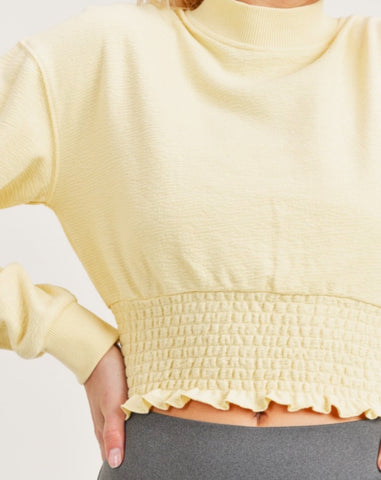 Yellow Cropped Pullover