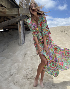 Slik Kaftan Dress