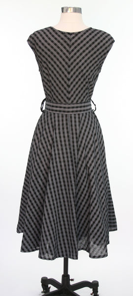 gingham dress (back view)