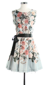 floral dress with tulle lining