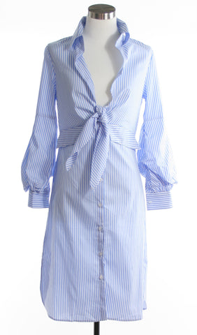 wrap shirt dress