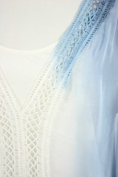 lace front blouse neck detail