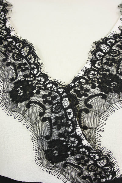 black lace detail