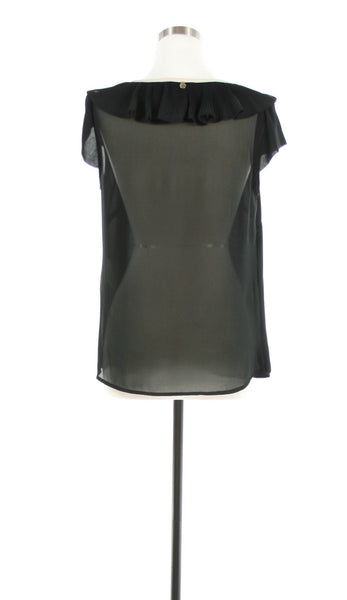 pleated collar tank back view