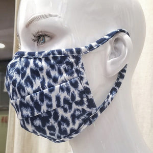 Wellness Blue Leopard Fashion Mask