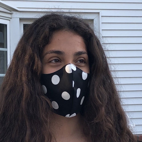 Wellness Reversible Polka Dot Mask
