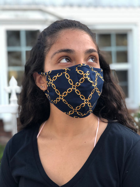 Wellness Gold Chain Fashion Mask