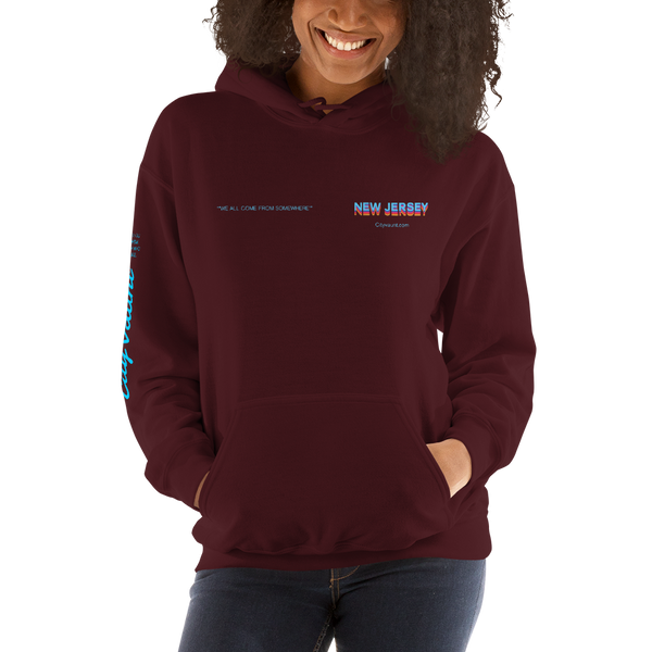 We All Come From Somewhere Hoodie: New Jersey
