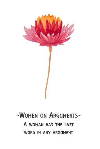 Men Vs Women - Arguments