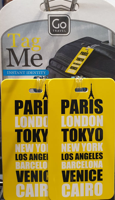 Go Travel Tag Me Luggage Tags - Yellow - 153