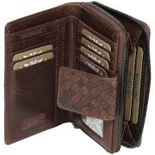 7294 Vintage Weave Brown Wallet