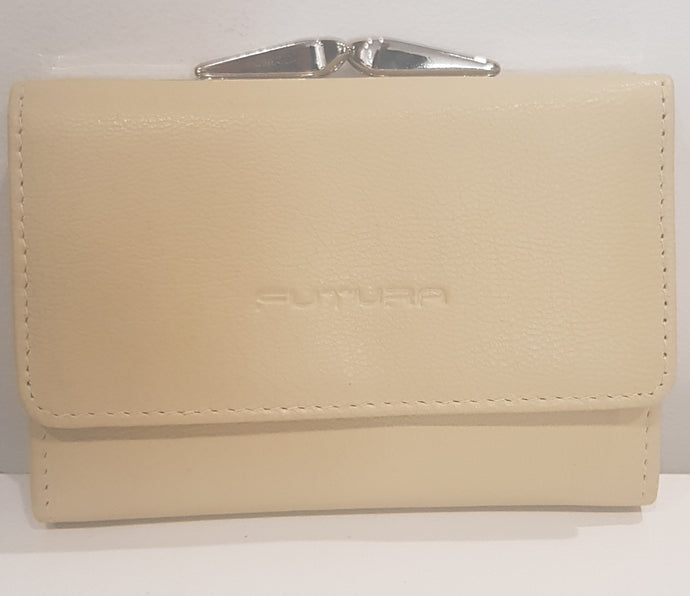 Futura A880L Sand, Small compact Wallet, Genuine Leather