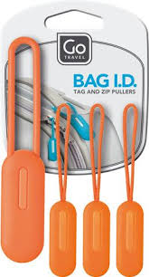 Go Travel Bag I.D Tag & Zip Pullers - Set of 4 - 40% off at checkout was