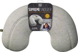 Go Travel Supreme Snoozer Inflatable Travel Pillow - Grey - 449