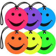 Smileys Luggage Tags - 40% off at checkout was
