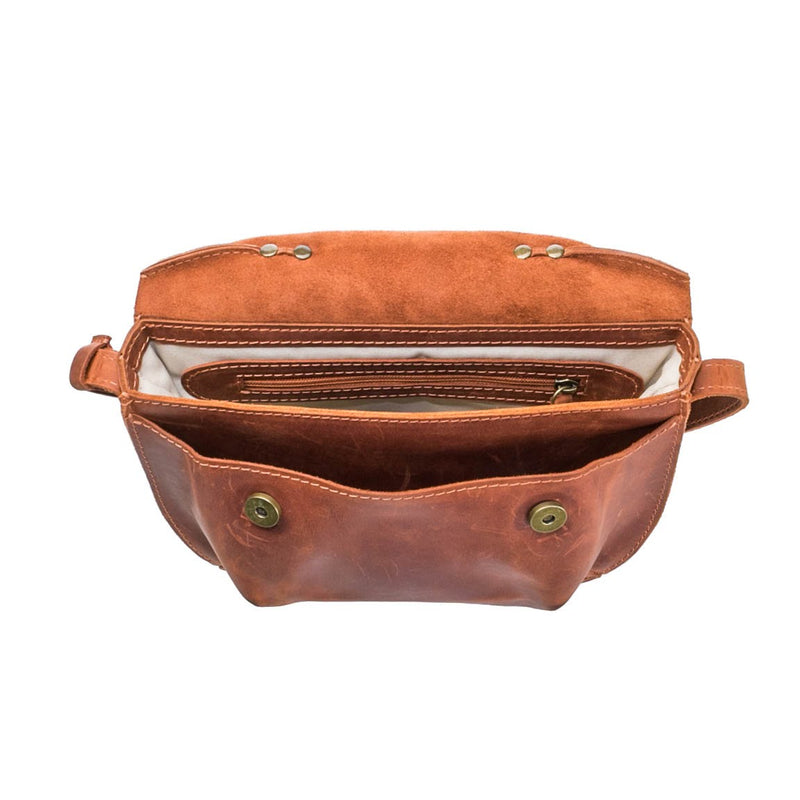 cognac brown Handcrafted leather purse