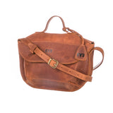 cognac brown Handcrafted leather purse for woman
