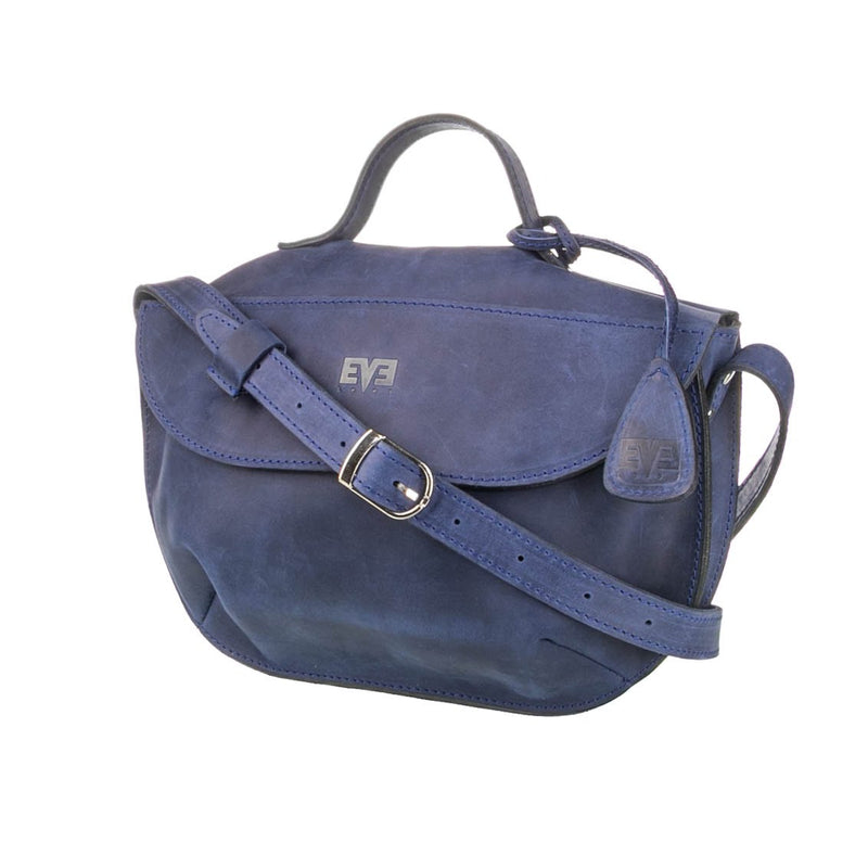 navy blue Handcrafted leather purse for woman