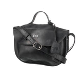 luxury black Handcrafted leather purse for woman