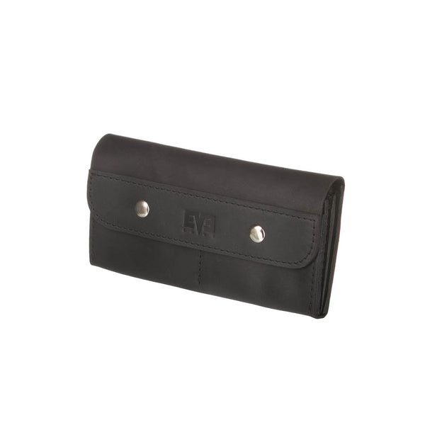 Handcrafted black wallet from cowhide leather