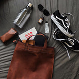 multifunctional leather BAG bright brown