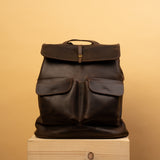 unique Handcrafted LEATHER BACKPACK with LINING for woman