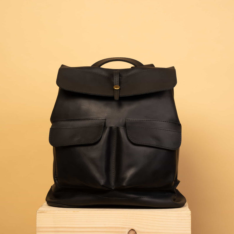 great Handcrafted LEATHER BACKPACK with LINING