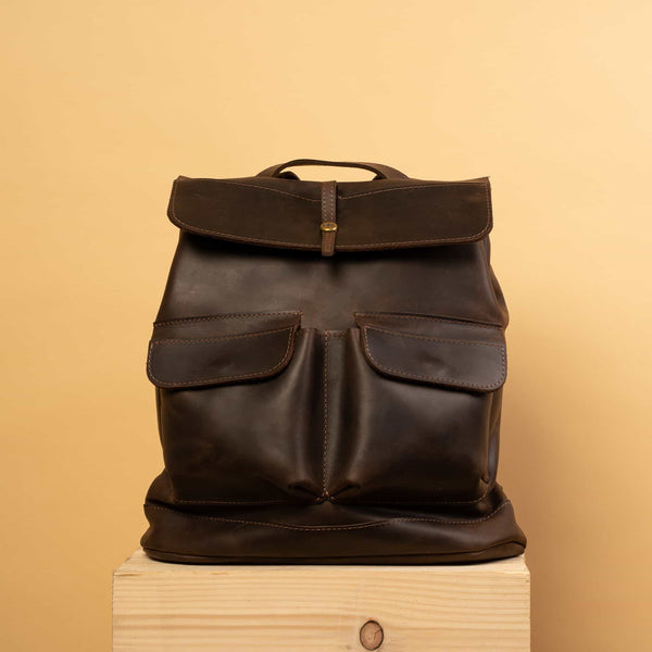premium Handcrafted LEATHER BACKPACK for man