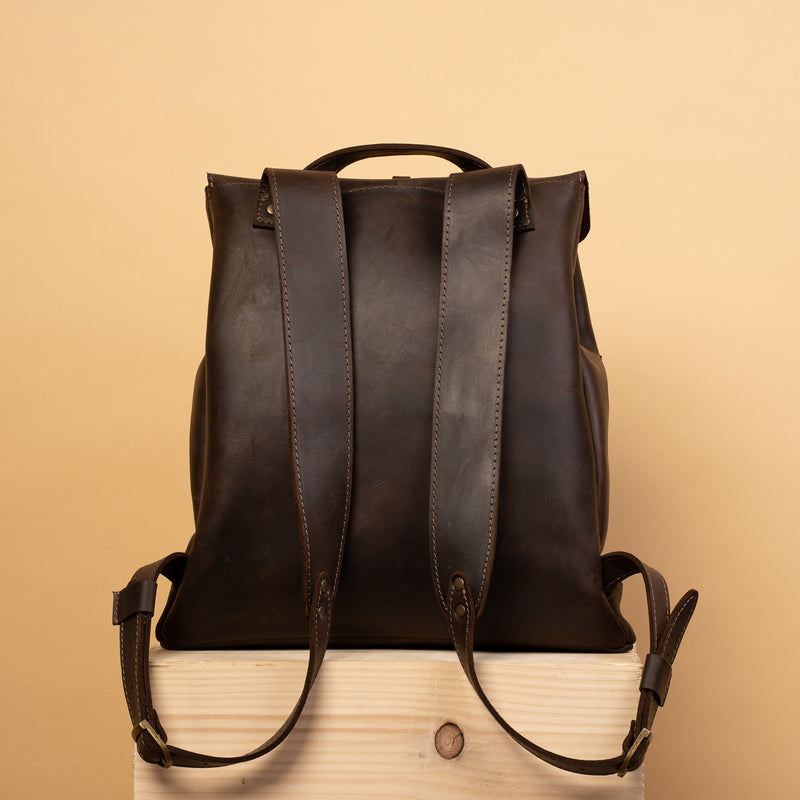 top quality brown Handcrafted LEATHER BACKPACK