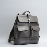 grafit gray leather backpack