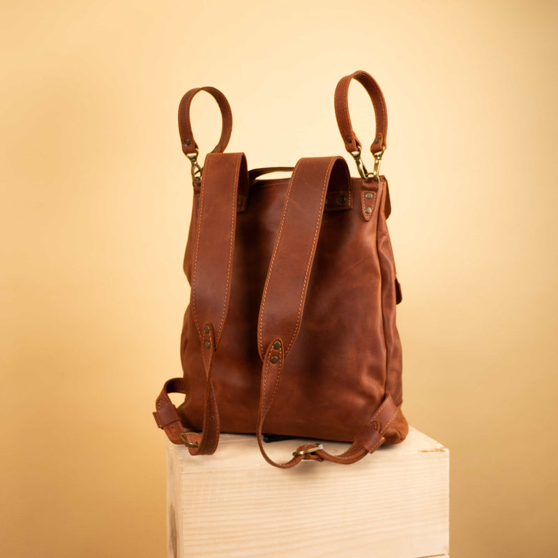 leather changing bag backpack