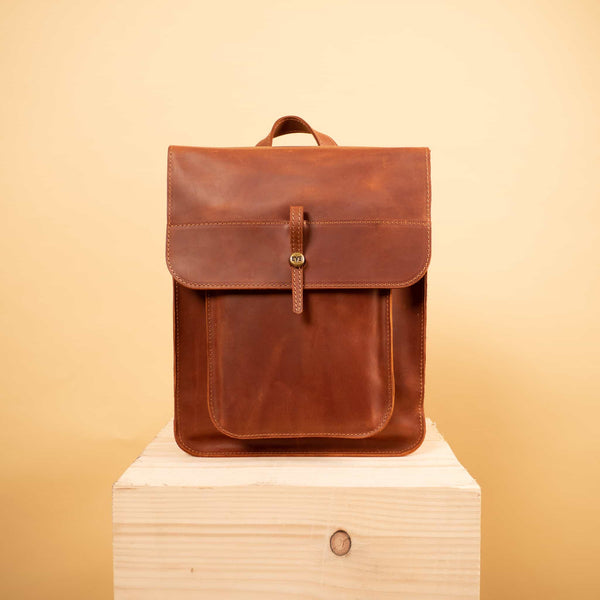 satchel leather backpack