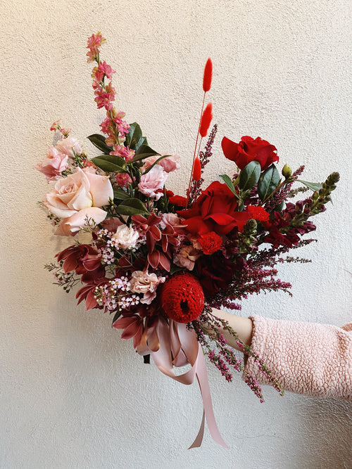 Monochromatic Red - Pink Bouquet Workshop (Mar 2020)
