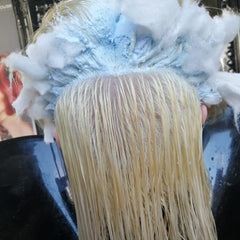 bleaching to platinum silver hair color