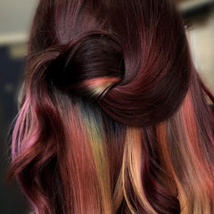 couture silk and spangles mermaid hair color