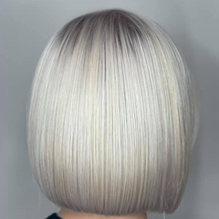 ICY BLONDE AND SILVER HAIR