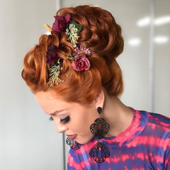 red head updo
